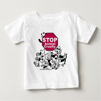Stoppen Sie Tiergrausamkeit Baby T-shirt