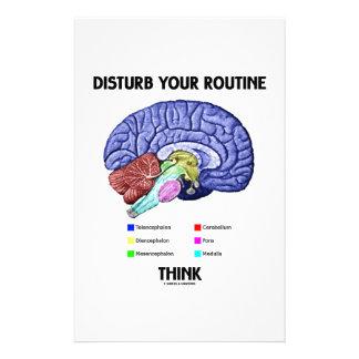 Stören Sie Ihr Programm denkt (Gehirn-Anatomie) Büropapier