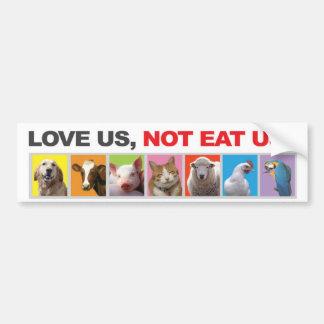 Stoßdämpfer, Aufkleber, Tiere, Vegetarier, Liebe Autoaufkleber