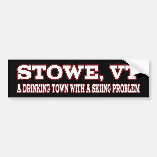 Stowe Skifahren-Problem Autoaufkleber