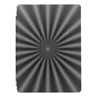 Strahlen in Schwarzweiss iPad Pro Cover