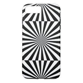 STRAHLEN transparentes (ein schwarzer u. weißer iPhone 8 Plus/7 Plus Hülle