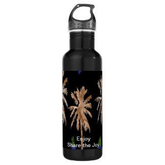 Strand-Bäume - genießen Sie n-Anteil die Freude Trinkflasche