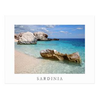 Strand Calas Mariolu, weiße Grenzpostkarte Postkarte