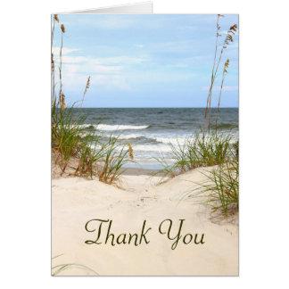 Strand danken Ihnen zu kardieren Mitteilungskarte