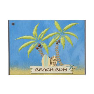 Strand-Gammler, Surfbretter, Palmen und Sand iPad Mini Etuis