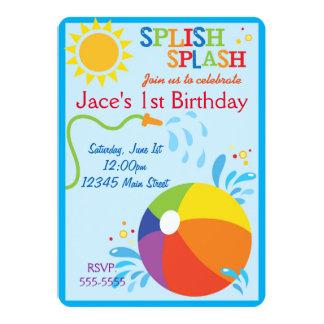 Strand-Geburtstags-Einladung 12,7 X 17,8 Cm Einladungskarte
