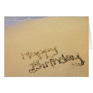 Strand-Geburtstags-Gruß-Karte Mitteilungskarte