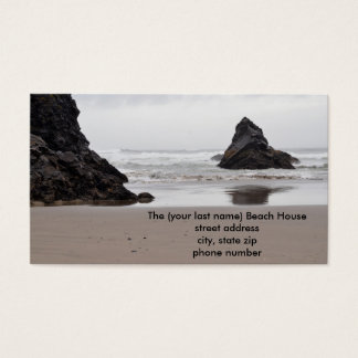 Strand-Haus-Kontakt-Karten Visitenkarte