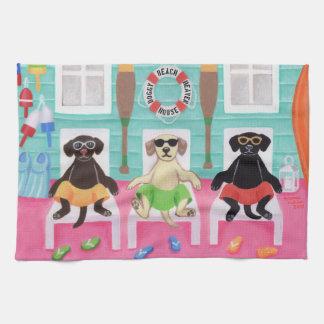 Strand-Haus-Labrador-Jungen-Tuch Küchenhandtücher