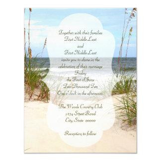Strand-Hochzeit 10,8 X 14 Cm Einladungskarte