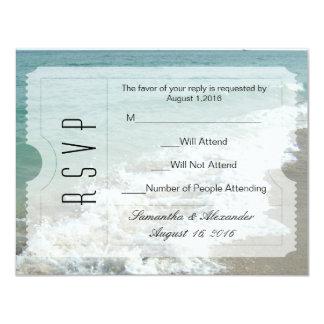 Strand-Hochzeit in Urlaubsorts-Karten-Einladung 10,8 X 14 Cm Einladungskarte