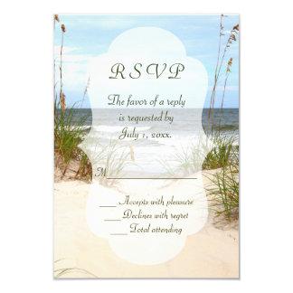 Strand-Hochzeit UAWG 8,9 X 12,7 Cm Einladungskarte