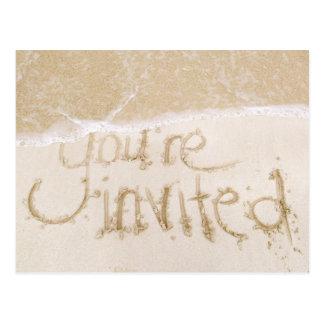 Strand-Hochzeits-Brautparty-Einladung--Sand u. Mee Postkarte