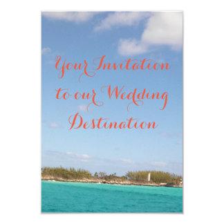 Strand-Hochzeits-Einladung Karte
