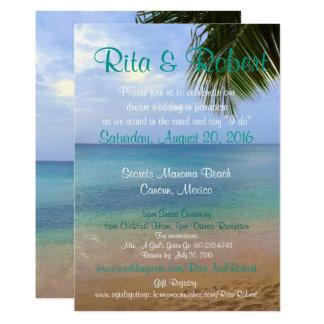 Strand-Hochzeits-Einladung - Ozean-Kunst-an 12,7 X 17,8 Cm Einladungskarte