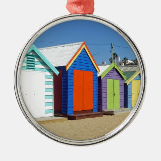 Strand-Kasten-Hütte Melbourne Australien Rundes Silberfarbenes Ornament