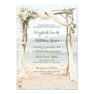 Strand-Lauben-Hochzeits-Einladung 12,7 X 17,8 Cm Einladungskarte