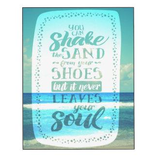 Strand-Liebe-Zitat-Typografie