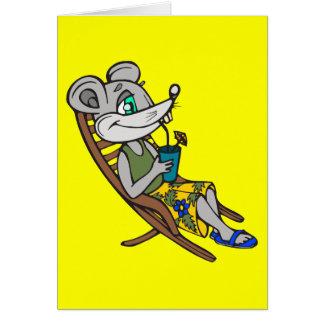 Strand-Maus Mitteilungskarte