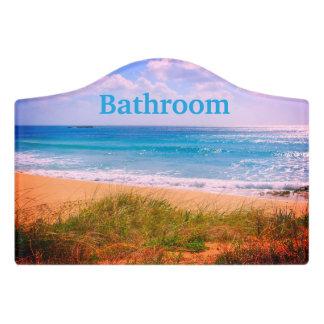 Strand mit Dünen-Badezimmer Türschild