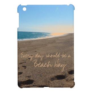Strand mit Zitat iPad Mini Hülle