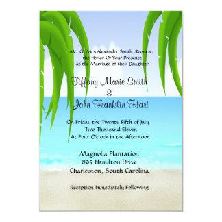 Strand-/Ozean-Hochzeits-Einladungen 12,7 X 17,8 Cm Einladungskarte