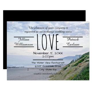 Strand/Ozean-Liebe - Hochzeits-Einladung Karte