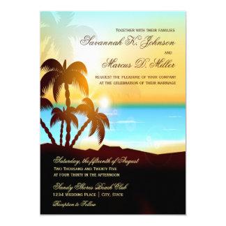 Strand-Palme-Hochzeit in Urlaubsorts-Einladungen 12,7 X 17,8 Cm Einladungskarte