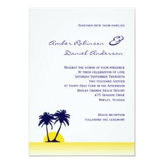 Strand-Palme-Hochzeits-Einladung 12,7 X 17,8 Cm Einladungskarte