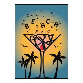 Strand-Partyentwurf 8,9 X 12,7 Cm Einladungskarte