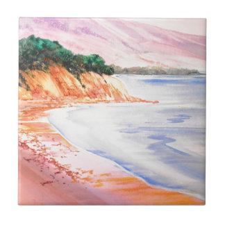 Strand, Pastell und Aquarell Fliese