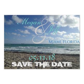 Strand Save the Date Karte