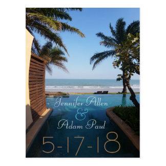 Strand-Save the Date Postkarte