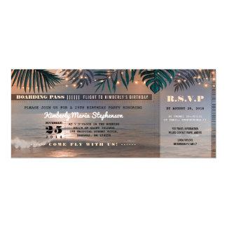 Strand-Sonnenuntergang der 10,2 X 23,5 Cm Einladungskarte