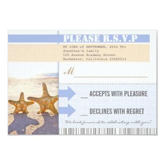 Strand Starfishhochzeits-uAwgkarten 8,9 X 12,7 Cm Einladungskarte