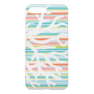 Strand-Streifen und korallenroter iPhone iPhone 7 Plus Hülle