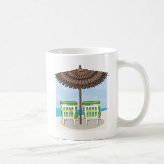 Strand-Stühle Kaffeetasse