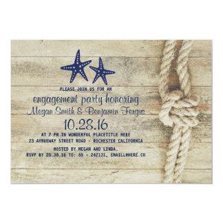 Strand-Treibholz-Seemarine-Verlobungs-Party 12,7 X 17,8 Cm Einladungskarte