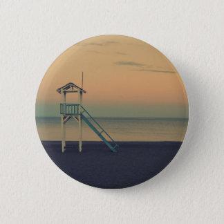 Strand-Turm-Sonnenuntergang Runder Button 5,7 Cm