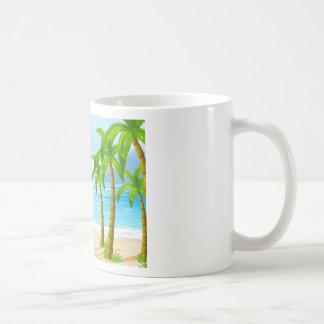 Strand und Boot Tasse