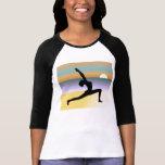 Strand-Yoga 3/4 Hülseraglan-Damen-Spitze Hemd