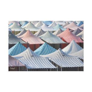 Strand-Zelte in Portugal Leinwanddruck