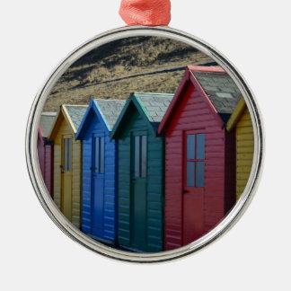 StrandseitenErinnerungen Rundes Silberfarbenes Ornament