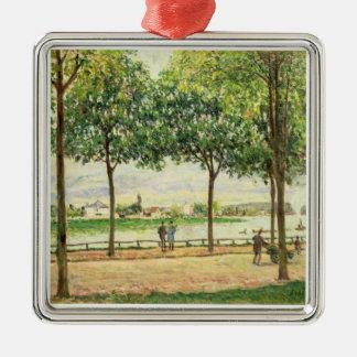 Straße Alfred Sisleys | der spanischen Silbernes Ornament