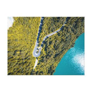 Straße der Luftaufnahme-Landschaft| Leinwanddruck