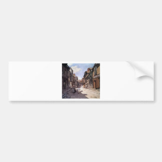 Straße des Bavolle Honfleur durch Claude Monet Autoaufkleber