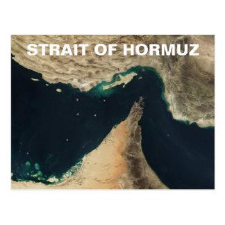 Straße des Hormuz Satelliten-Bildes Postkarte
