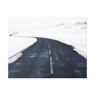 Straße des Schnees | der Naturphotographie | Leinwanddruck
