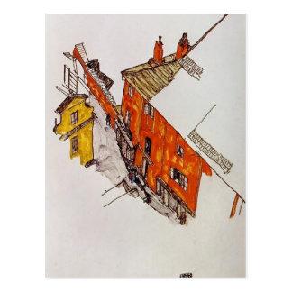 Straße Egon Schiele- in Krumau Postkarte